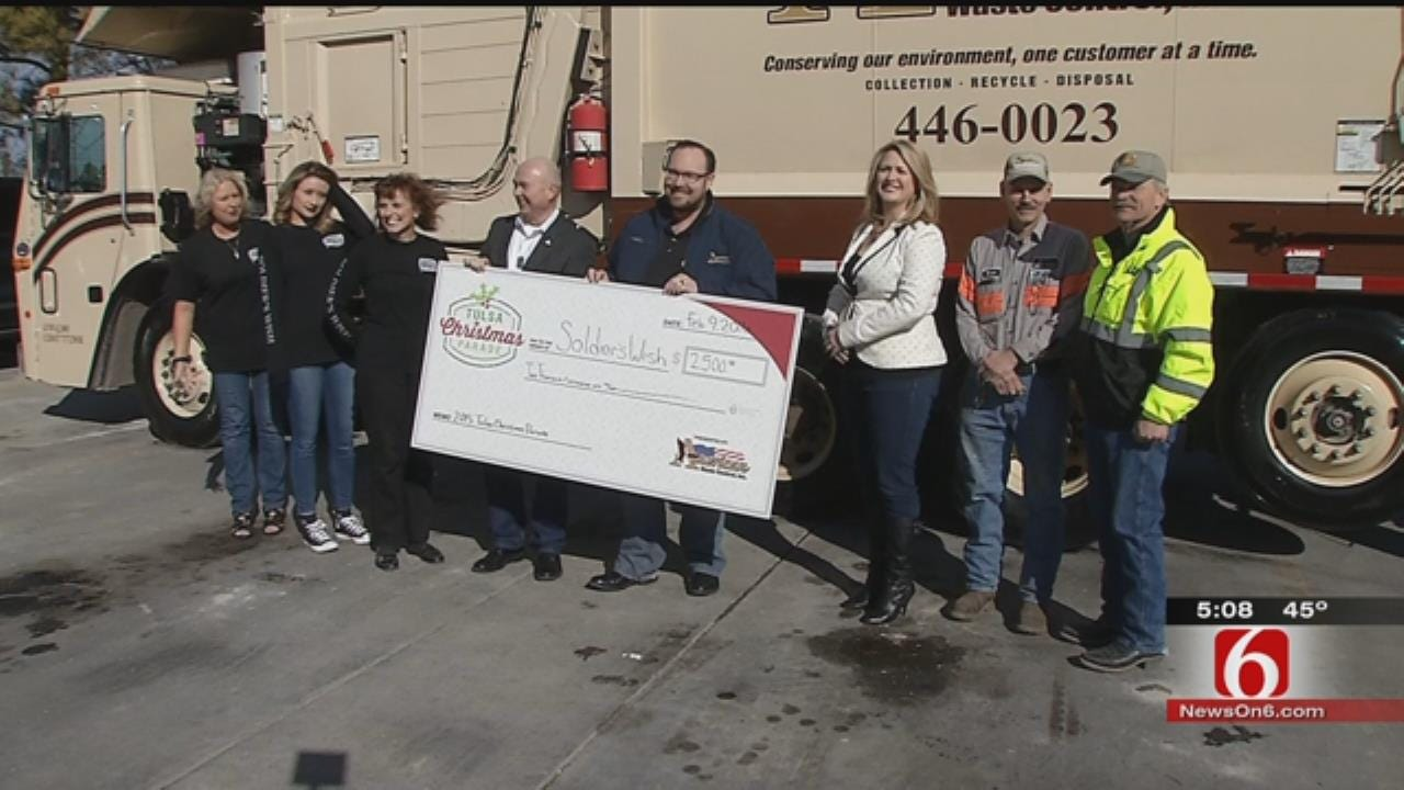 Tulsa Christmas Parade Donates Extra Money To Help Soldier In Need