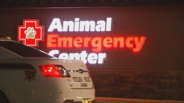 WEB EXTRA: Police Say Argument At Tulsa Emergency Vet Leads To Woman's Injury