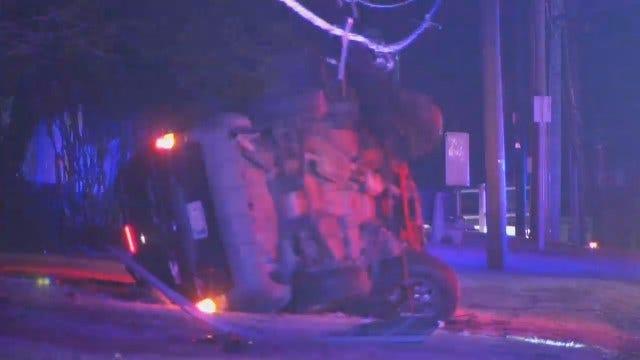 WEB EXTRA: Tulsa Power Pole Crash