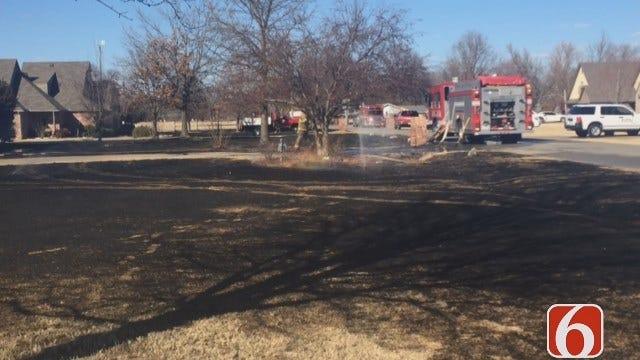 Annie Chang On Grass Fire Near Bixby NE Elementary School
