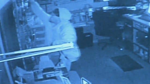 WEB EXTRA: Surveillance Video From Tulsa Business Burglary