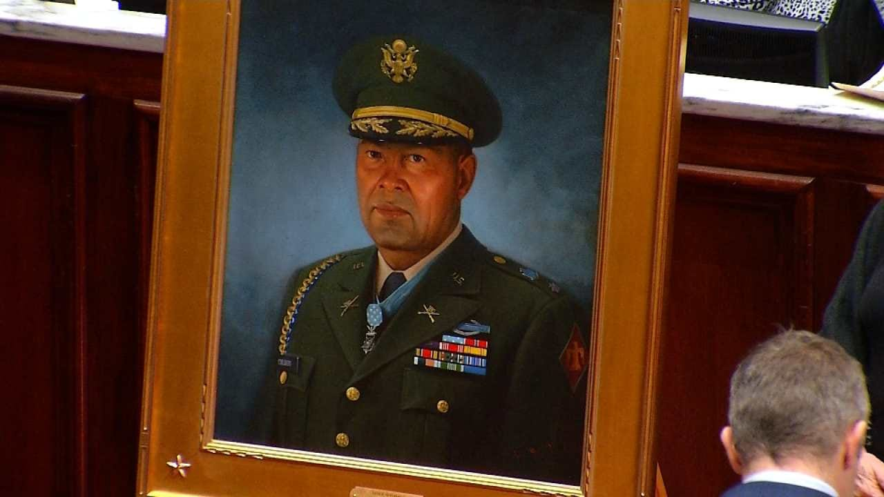 Oklahoma Leaders Pay Tribute To WWII Hero Ernest Childers