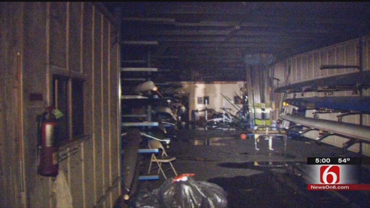 Investigators Search For Tulsa Rowing Club Arsonist