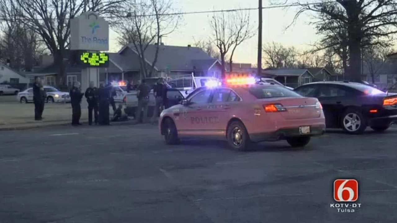 WEB EXTRA: Tulsa Police Pursuit End In Arrest