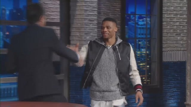 Thunder's Russell Westbrook On CBS 'Late Show'