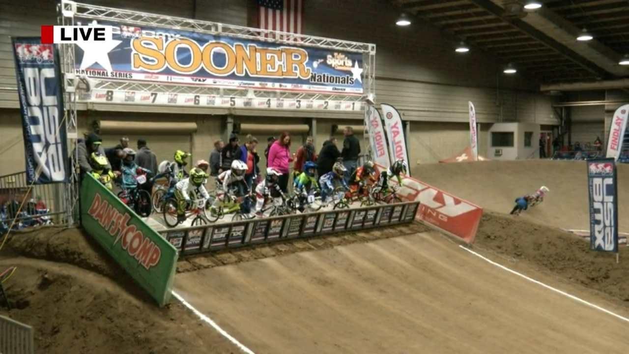 BMX Racers Compete At Tulsa Fairgrounds