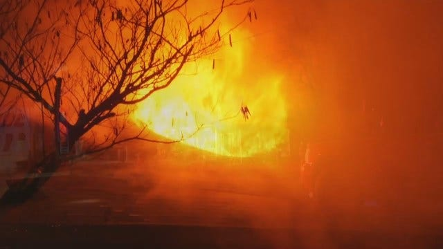 WEB EXTRA: Video From Scene Of Glenpool House Fire