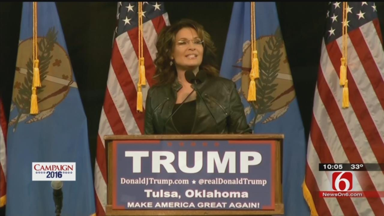 Thousands Turned Away At Trump, Palin Rally Due To Packed Mabee Center