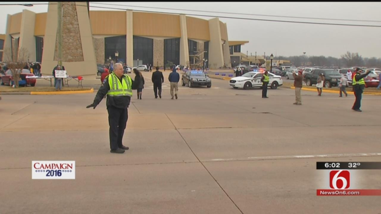 Tulsa Officers Work Overtime Because Of Presidential Campaign Visits