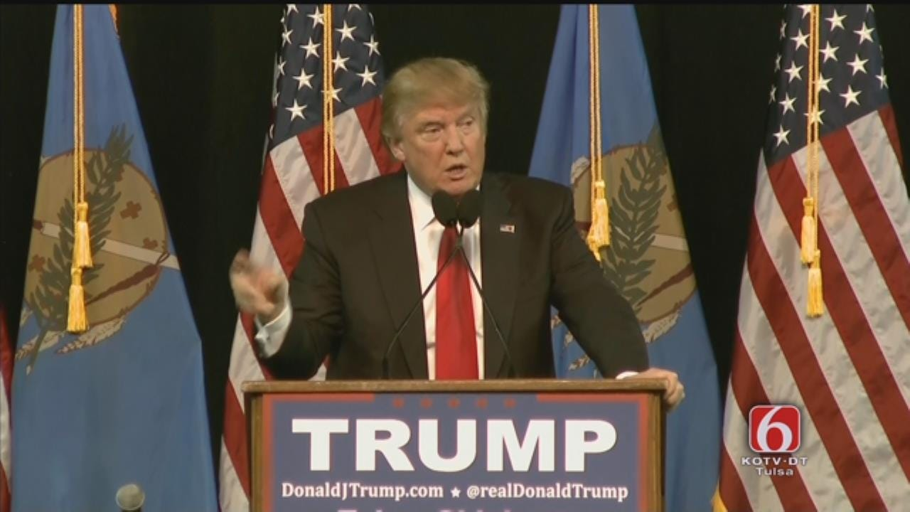 WEB EXTRA: Donald Trump Speaks At Mabee Center Part 1