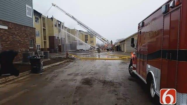 Fire Damages Broken Arrow Apartment Building Under Construction