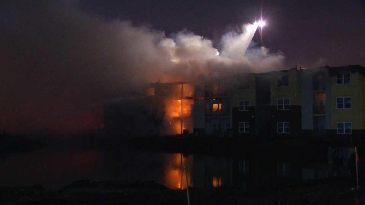 Broken Arrow Apartment Building Under Construction Catches Fire