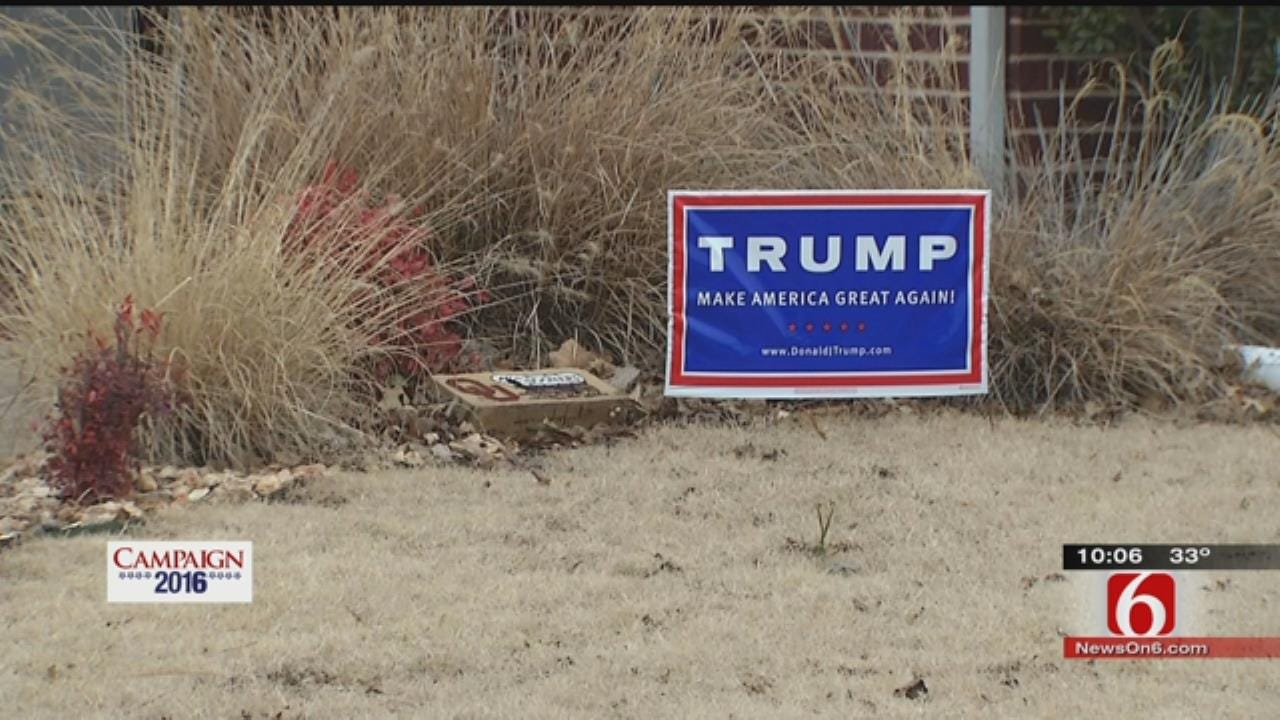Verdigris Homeowner To Trump Sign Thieves: 'Stay Out Of My Yard'