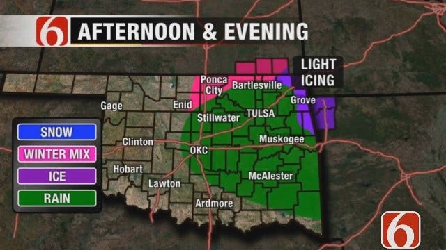 Winter Weather Advisory Issued For Far Northeast Oklahoma