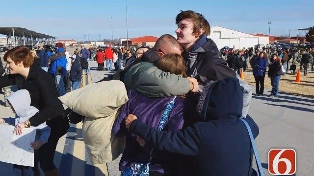 WEB EXTRA: Oklahoma Air National Guard Members Welcomed Home In Tulsa