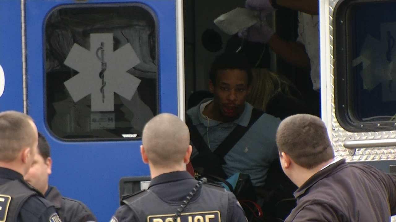 Police Shoot At, Arrest Suspected Tulsa Gunman