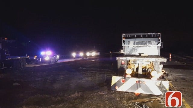 WEB EXTRA: Scenes From Fatal Okmulgee County Wreck