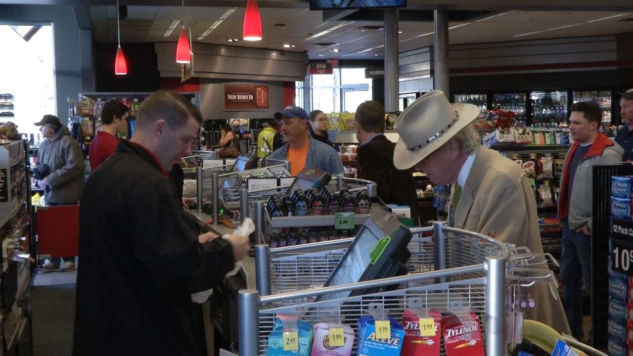 WEB EXTRA: Powerball Ticket Sales In Tulsa
