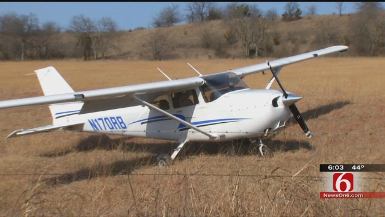 Plane Makes Emergency Landing In East Tulsa Field