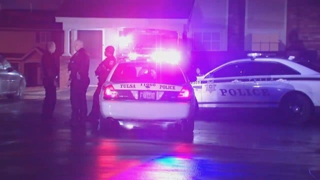 WEB EXTRA: Video From Scene Of Shots Fired In West Tulsa