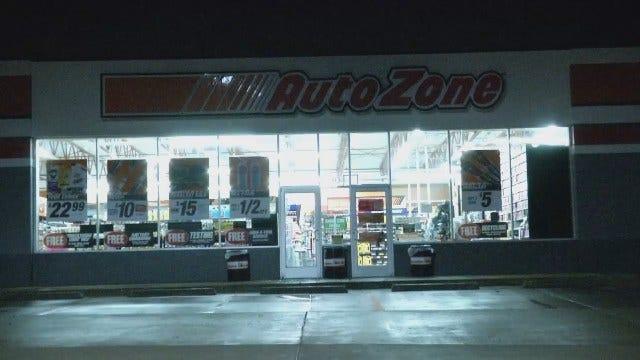WEB EXTRA: Police Outside Tulsa AutoZone Store