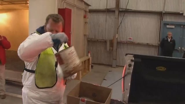 WEB EXTRA: Video Inside Tulsa's New Household Pollutant Collection Facility