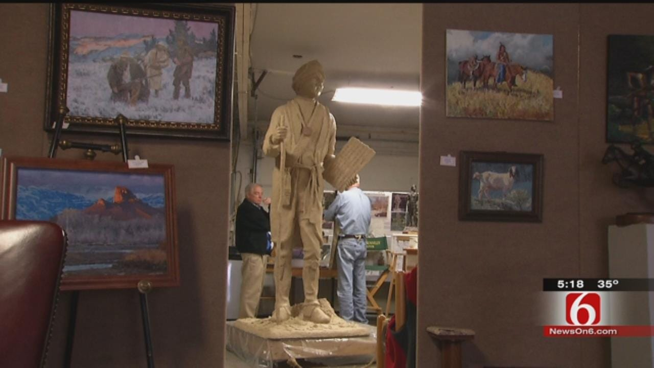 Local Artist's Sequoyah Sculpture Headed To Gilcrease Museum