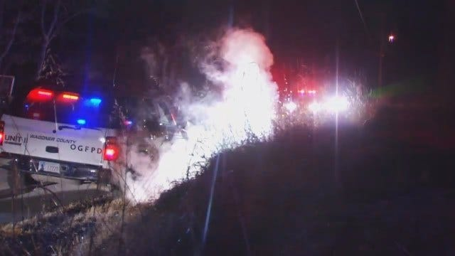 WEB EXTRA: Video From Scene Of Wagoner County Shed Fire