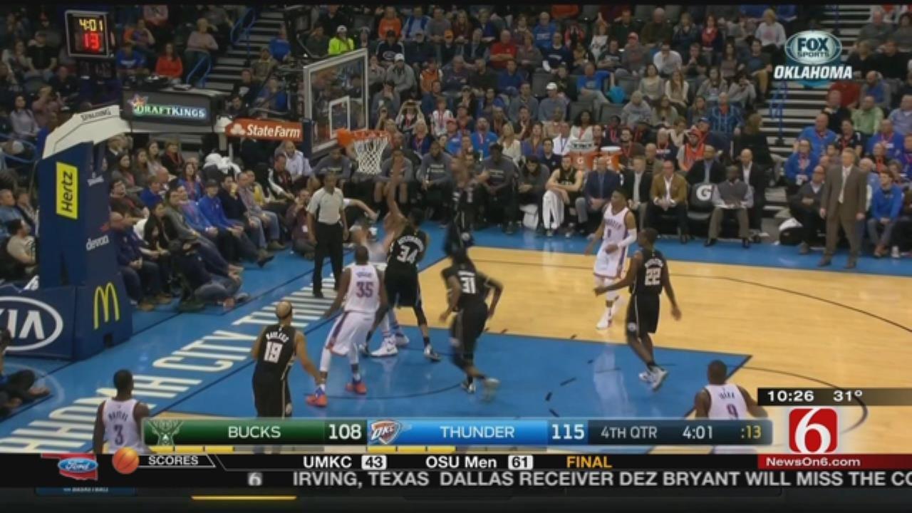 Rookie Helps Thunder Win Shootout Against Bucks