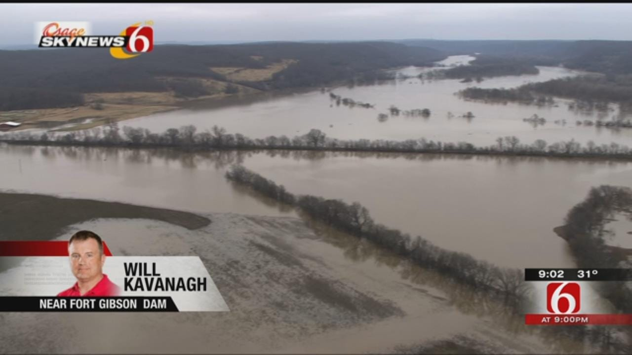 WEB EXTRA: Osage SkyNews 6 HD Over Fort Gibson Dam
