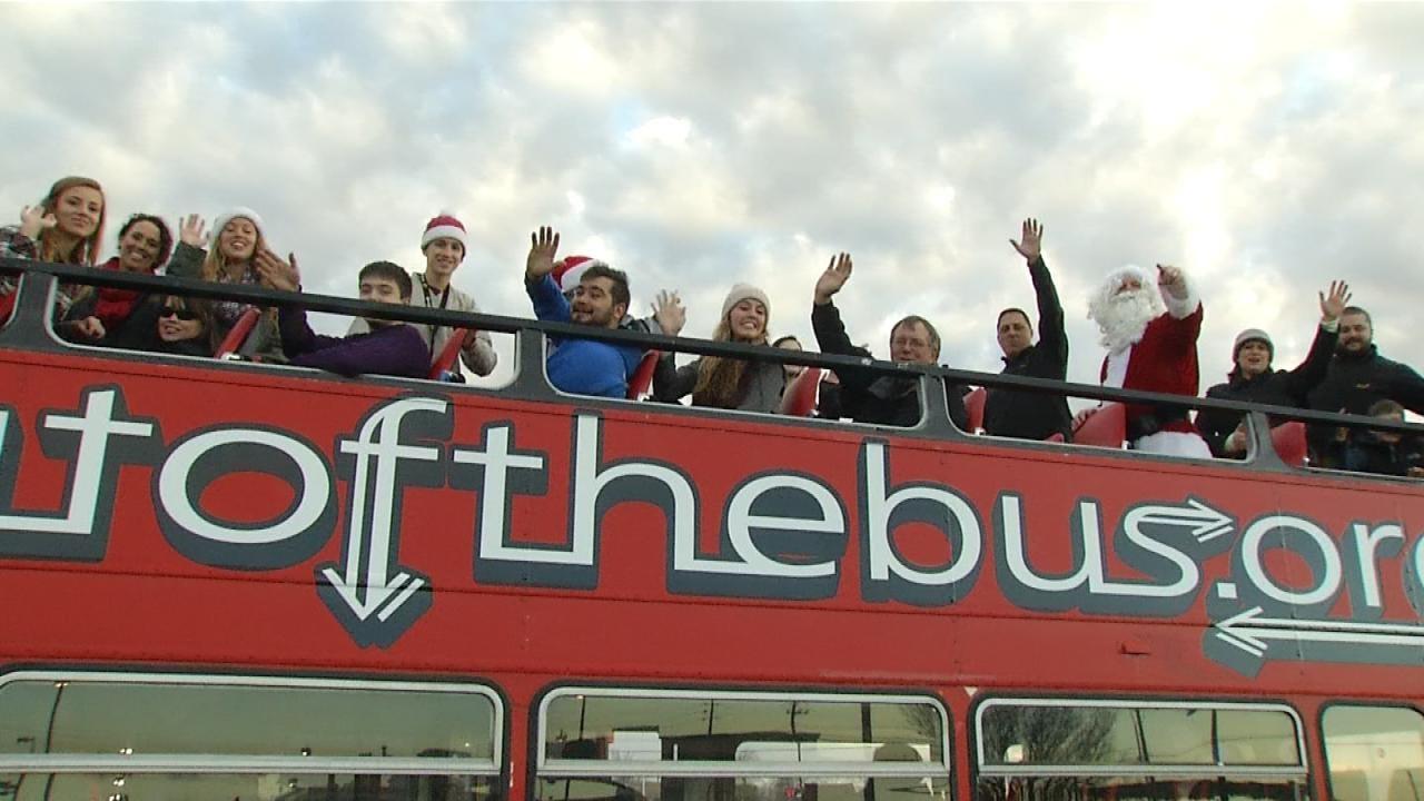Bus Brings Santa, Christmas Cheer, To Broken Arrow Community