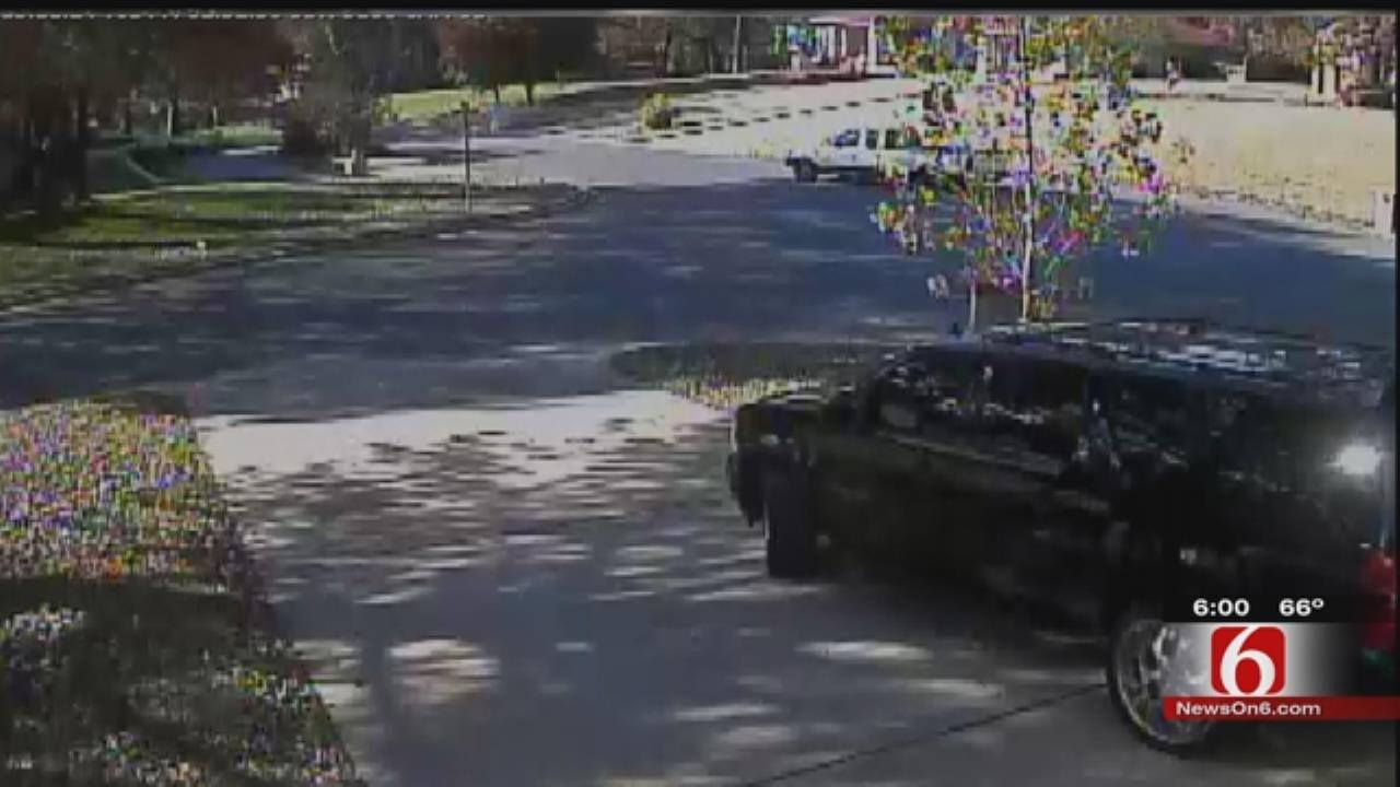 Tulsa Family's Home Burglarized; Suspected Vehicle Caught On Camera