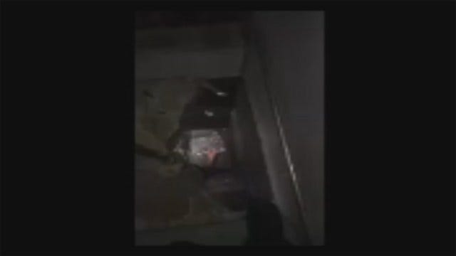 WEB EXTRA: Video Of Holes Found In Rogers County Jail