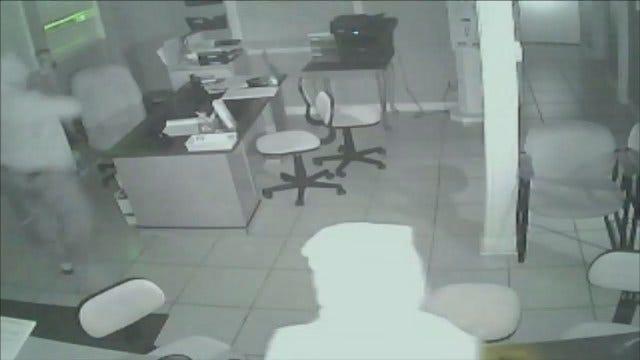 Surveillance Cameras Catch Tulsa Burglars Searching For Rent Checks