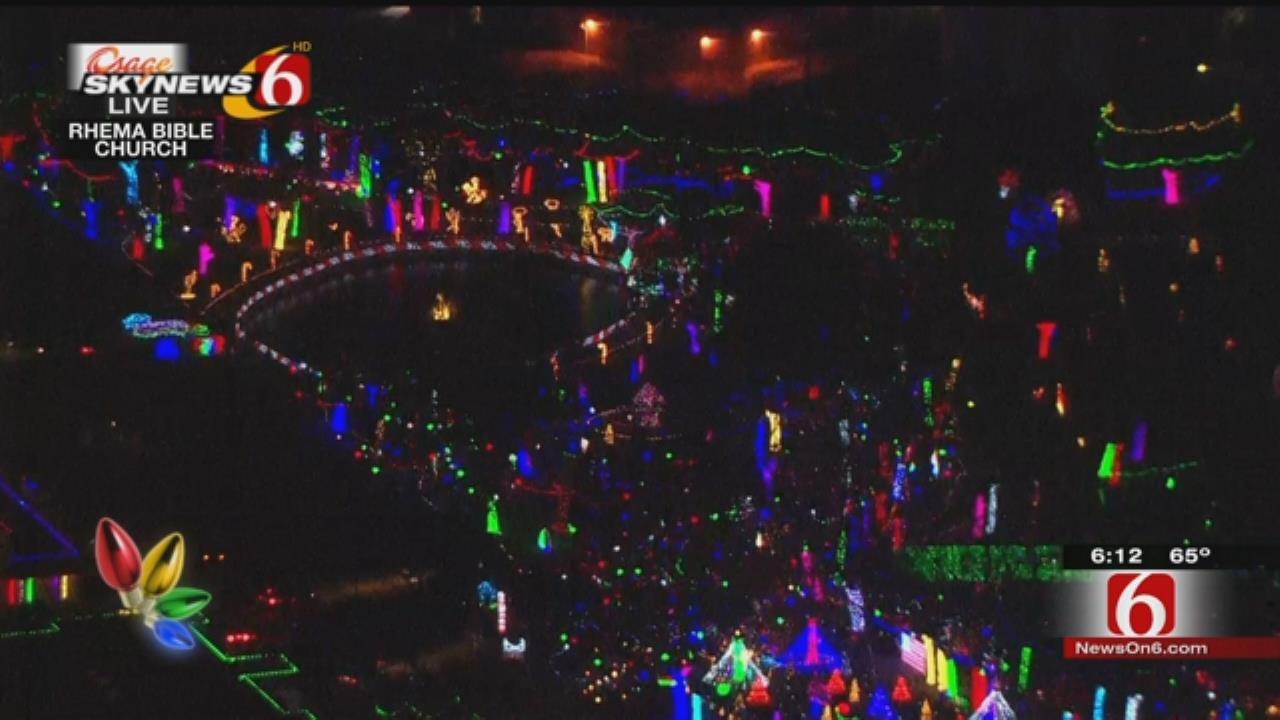 WEB EXTRA: Christmas Lights Come On At Rhema