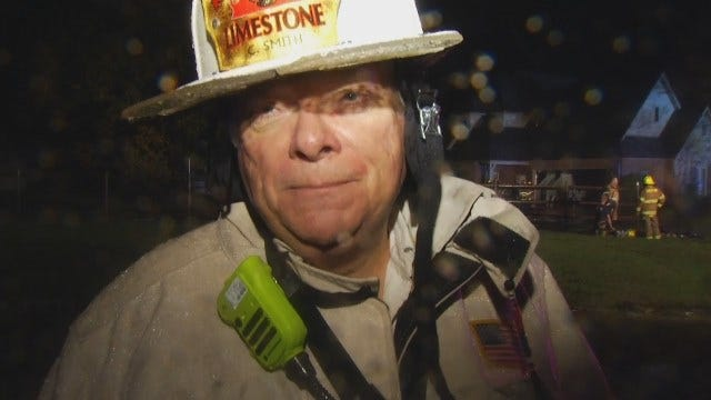 WEB EXTRA: Limestone Fire Chief Charles Smith Talks About Lightning Strike Fire