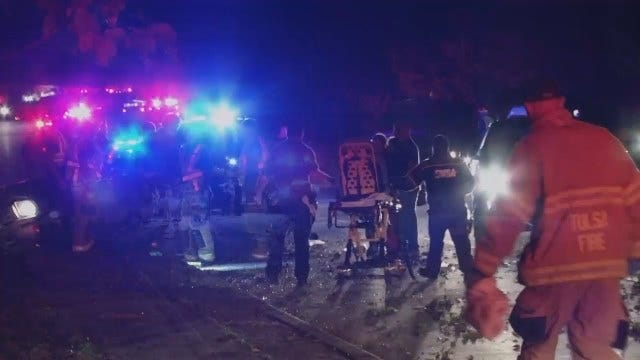 WEB EXTRA: Two Injured In Tulsa Crash