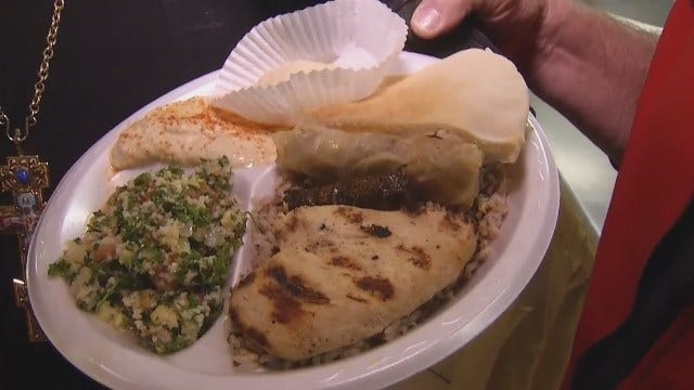 WEB EXTRA: Travis Meyer At St. Antony's For Some Lebanese Food