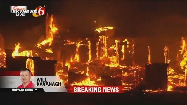 WEB EXTRA: Structure Fire In Lenapah