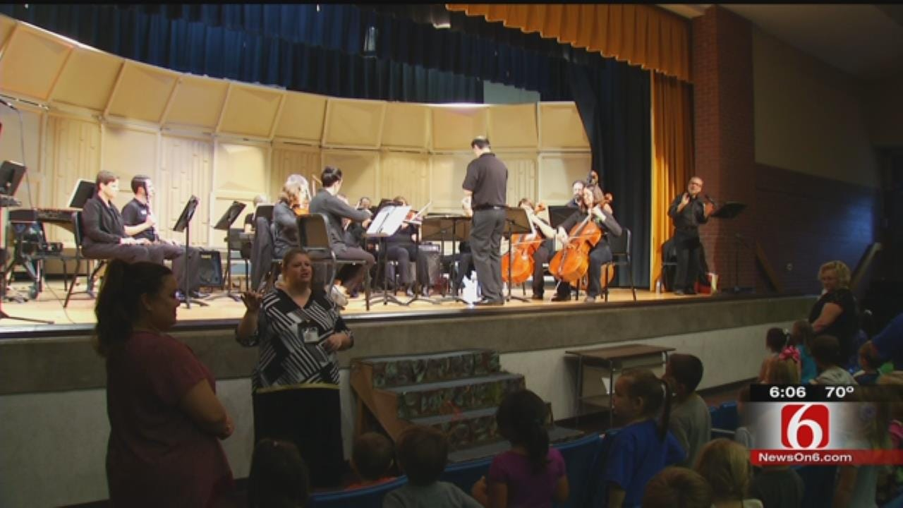 Tulsa Symphony Brings Music To Sand Springs Elementary Kids
