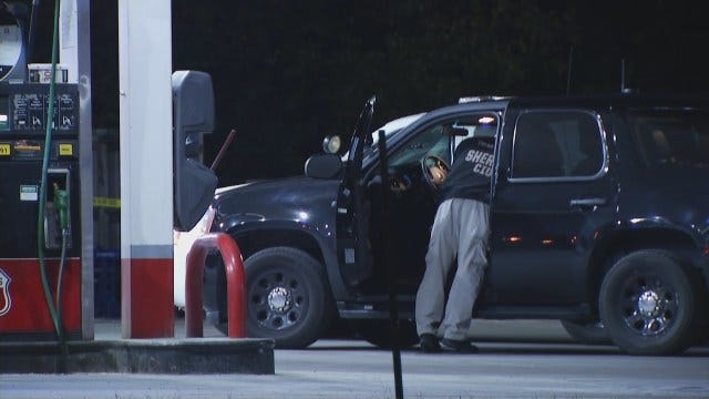 WEB EXTRA: Video From Scene Of Turley Gas Station Robbery