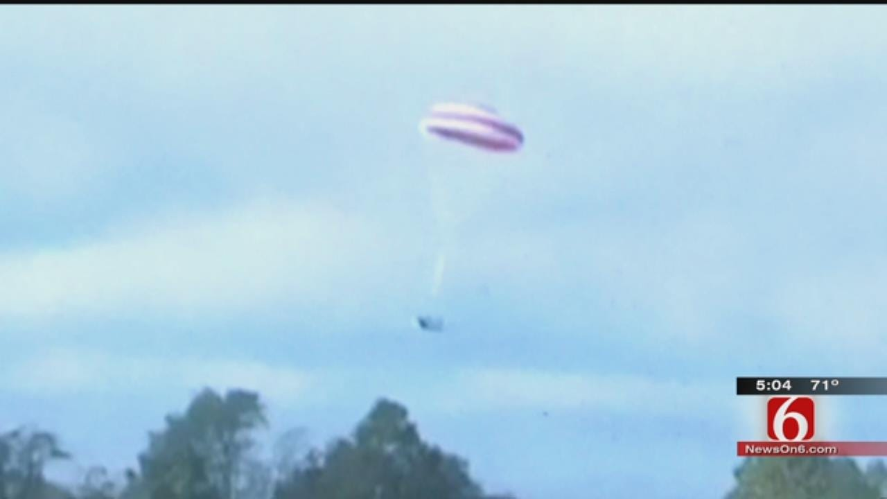 Pilot Who Made Emergency Parachute Landing Trained In Tulsa