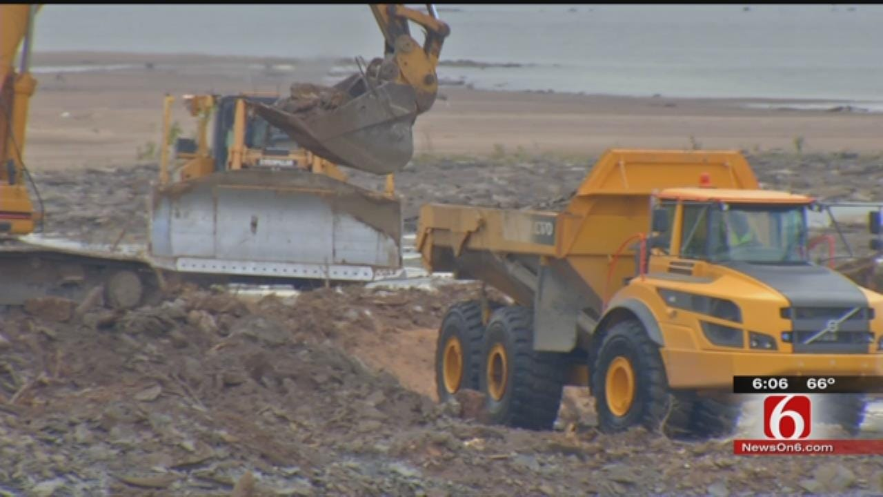 Tulsa Gathering Place Crews Busy Transforming RiverParks Banks