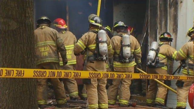 WEB EXTRA: Fire Damages Tulsa Apartment Complex