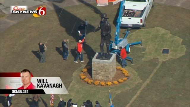 Statue Of Pistol Pete Unveiled In Okmulgee