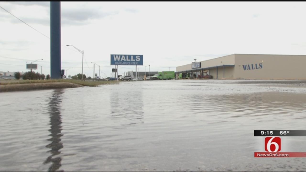 Broken Water Line Floods Muskogee Business