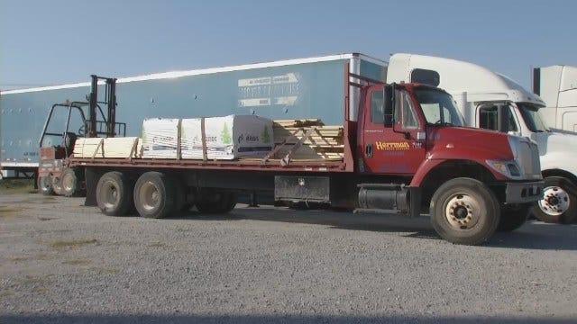 WEB EXTRA: Video Of Missouri Lumber Truck In Tulsa