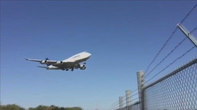 WEB EXTRA: Lufthansa Boeing 747-400 Makes Final Flight, To Tulsa
