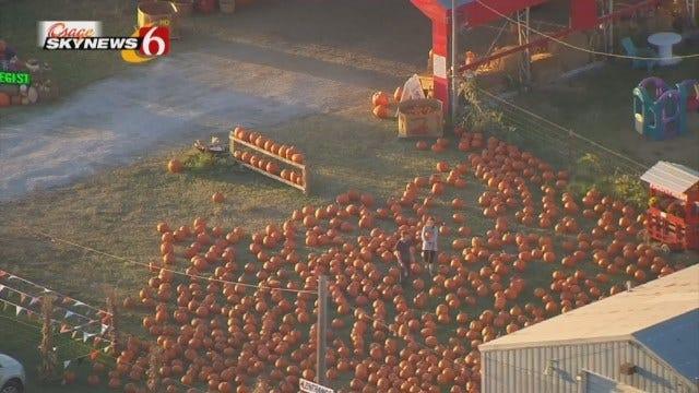 Osage SkyNews 6 HD Flies Over Tulsa's Pumpkin Town