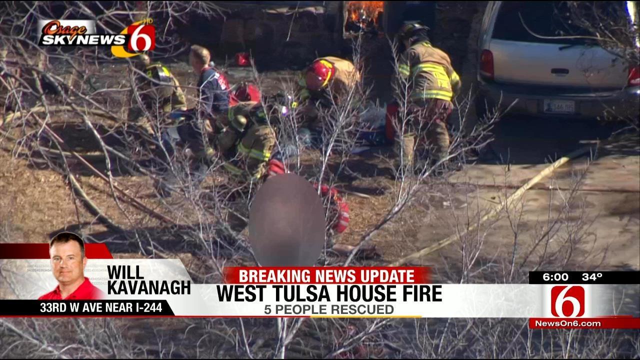 WEB EXTRA: Osage SkyNews 6 HD Over Burning Tulsa Home